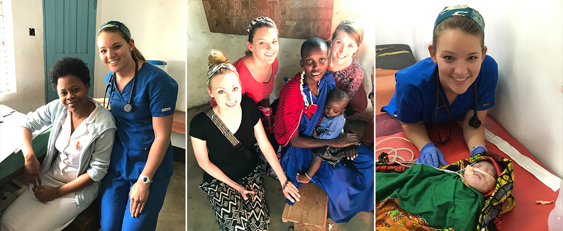 Nursing students in Tanzania