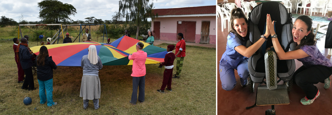 Students empowering learners at Step by Step Learning Centre through Physical Therapy in Tanzania